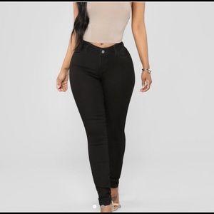Classic Mid Rise Black Fashion Nova jeans
